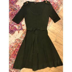 Adrienne Vittadini Olive Green Dress